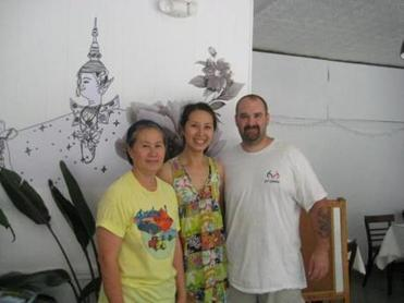 Yai Sawang (left) and the restaurant's co-owners, her daughter Lita Sawang and son-in-law Phill Winslow.